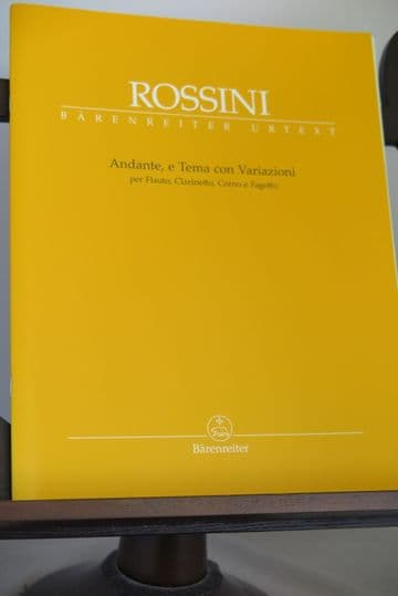 Rossini G - Andante Theme & Variations for Flute Clarinet Horn & Bassoon